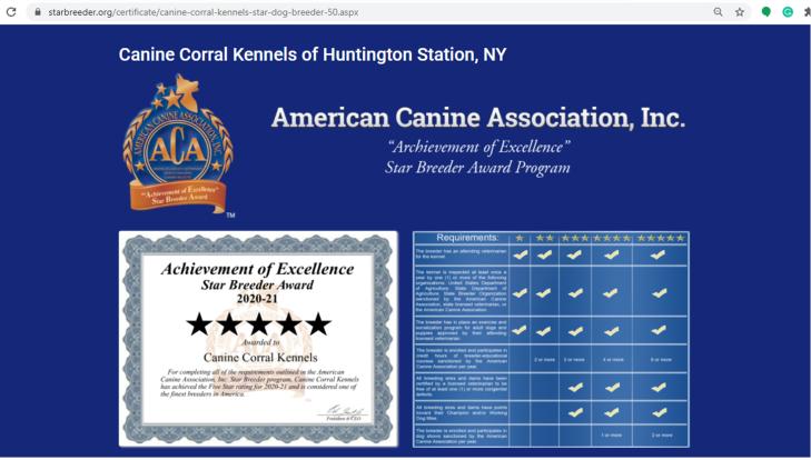 canine corral reviews caninecorral kennels hunting station ny longisland ny star